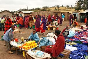 Monduli Market in Tanzania Africa