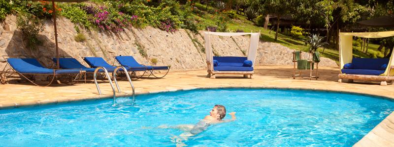 The New Saline pool at Karama Lodge and Spa in Arusha Tanzania Africa