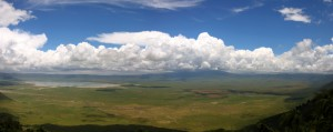Panorama on Ngorongoro Crater