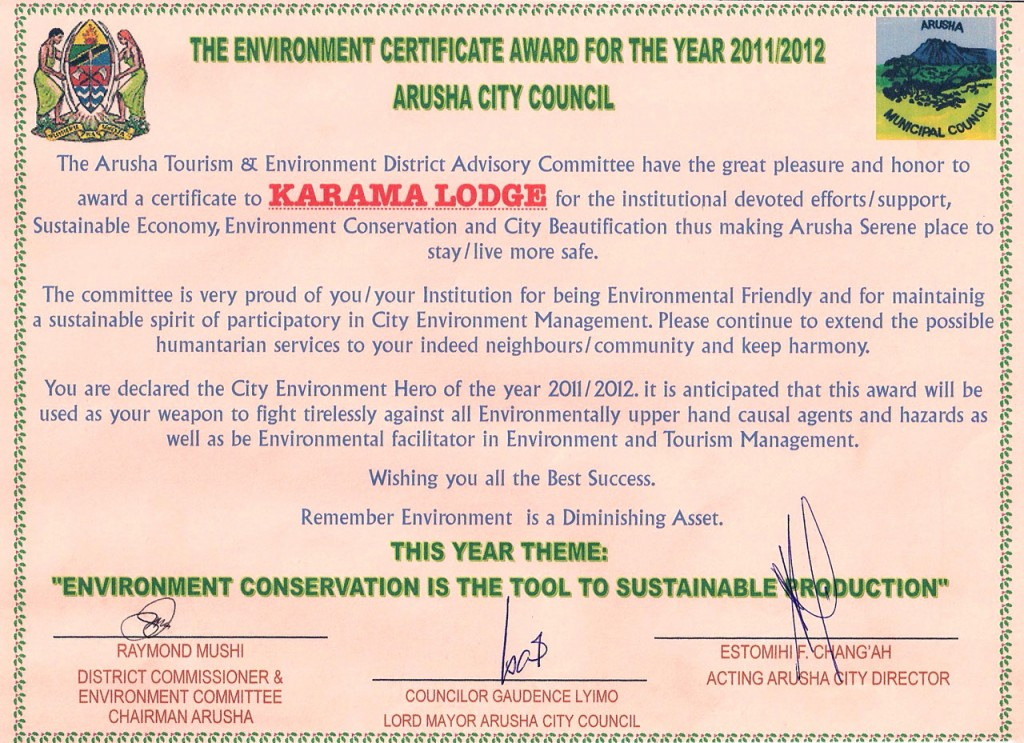 Karama Award for Eco Friendliness